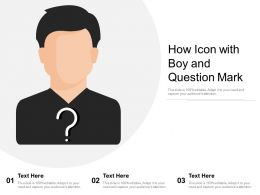 How Icon With Boy And Question Mark