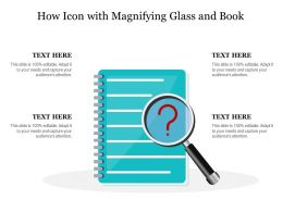 How Icon With Magnifying Glass And Book