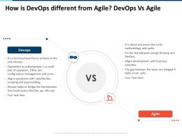 How Is Devops Different From Agile Devops Vs Agile Configuration Ppt Themes