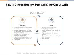 How Is Devops Different From Agile Devops Vs Agile Ppt Powerpoint Presentation Example