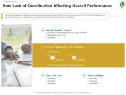 How Lack Of Coordination Affecting Overall Performance Ppt Powerpoint Design