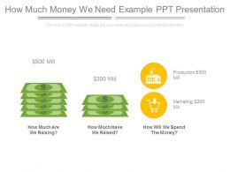 How Much Money We Need Example Ppt Presentation