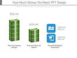 How Much Money We Need Ppt Design