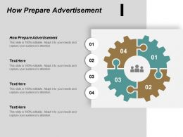 How Prepare Advertisement Ppt Powerpoint Presentation Portfolio Visual Aids Cpb