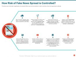 How Risk Of Fake News Spread Is Controlled Remove Ppt Powerpoint Presentation Gallery Model Presentation Graphics Presentation Powerpoint Example Slide Templates