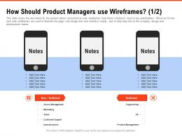 How Should Product Managers Use Wireframes Marketing Requirement Gathering Methods Ppt Topics