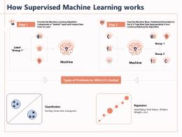How Supervised Machine Learning Works Categorized Powerpoint Presentation Infographics