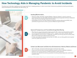 How Technology Aids In Managing Pandemic To Avoid Incidents Timely Ppt Powerpoint Presentation Gallery Guide