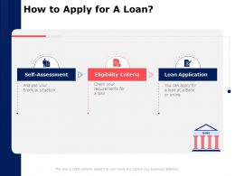 How To Apply For A Loan Application Ppt Powerpoint Presentation Professional Background Designs