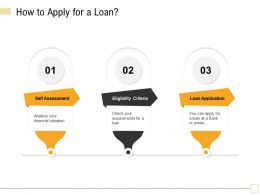 How To Apply For A Loan Check Your Ppt Powerpoint Presentation Visual Aids Show