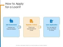 How To Apply For A Loan You Can Ppt Powerpoint Presentation Pictures Model