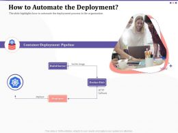 How To Automate The Deployment Pipeline Ppt Powerpoint Icon Pictures