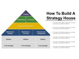 How To Build A Strategy House Powerpoint Templates