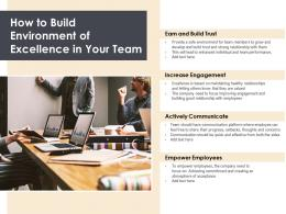 How To Build Environment Of Excellence In Your Team