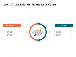 How To Build The Ultimate Client Experience Identify The Solution For The Root Cause Ppt Visuals