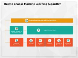 How To Choose Machine Learning Algorithm Cheat Sheet Ppt Powerpoint Presentation Visual Aids Files