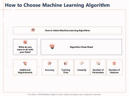 How To Choose Machine Learning Algorithm Linearity Powerpoint Presentation Design Inspiration
