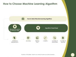 How To Choose Machine Learning Algorithm Linearity Ppt Powerpoint Presentation File Aids