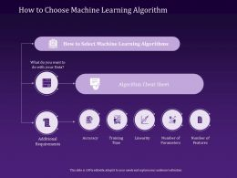 How To Choose Machine Learning Algorithm Sheet Ppt Powerpoint Presentation Visuals