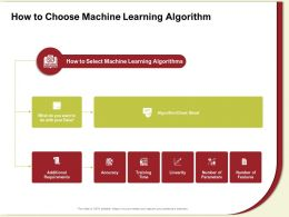 How To Choose Machine Learning Algorithm Your Data Ppt Powerpoint Presentation Gallery Good