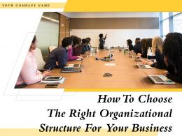 How To Choose The Right Organizational Structure For Your Business Powerpoint Presentation Slides