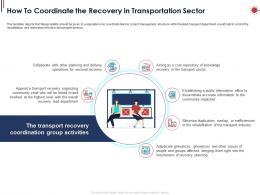 How To Coordinate The Recovery In Transportation Sector Ppt Powerpoint Presentation Icon Example Introduction