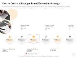 How To Create A Stronger Brand Extension Strategy Current Ppt Powerpoint Presentation Microsoft