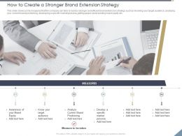 How To Create A Stronger Brand Extension Strategy Specific Ppt Powerpoint Presentation Pictures Slides