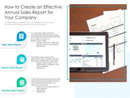 How To Create An Effective Annual Sales Report For Your Company