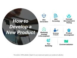 How To Develop A New Product Ppt Powerpoint Presentation Diagram Ppt