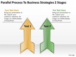 How To Draw Business Process Diagram 2 Stages Powerpoint Templates PPT Backgrounds For Slides