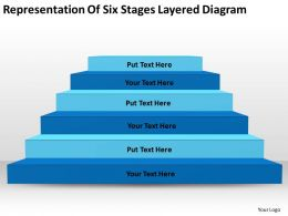 How To Draw Business Process Diagram Representation Of Six Stages Layered Powerpoint Slides