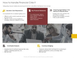 How To Handle Financial Crisis Currency Ppt Powerpoint Presentation Infographic Template Download