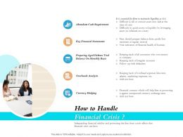 How To Handle Financial Crisis Ppt Powerpoint Infographics