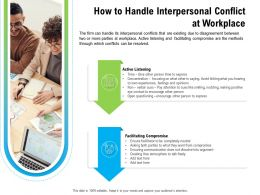 How To Handle Interpersonal Conflict At Workplace M2258 Ppt Powerpoint Presentation Gallery Rules