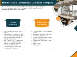 How To Handle Interpersonal Conflict At Workplace Ppt Background Images