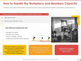 How To Handle The Workplace And Members Capacity M1016 Ppt Powerpoint Presentation Ideas