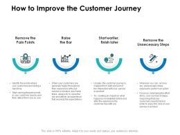 How To Improve The Customer Journey Ppt Powerpoint Presentation Tips