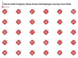 How To Instill Company Values Across The Employee Journey Icons Slide