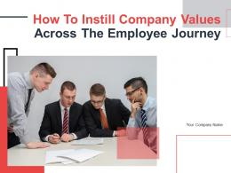 How To Instill Company Values Across The Employee Journey Powerpoint Presentation Slides