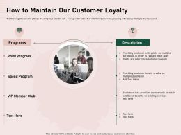 How To Maintain Our Customer Loyalty Converted Ppt Powerpoint Clipart