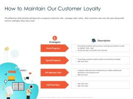 How To Maintain Our Customer Loyalty Converted Ppt Powerpoint Presentation Portfolio Graphic Tips