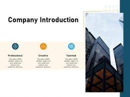 How To Make A Small Business Grow Faster Company Introduction Ppt Powerpoint Presentation Slides Icon