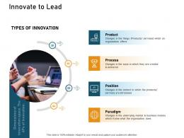 How To Make A Small Business Grow Faster Innovate To Lead Ppt Powerpoint Presentation Styles Summary