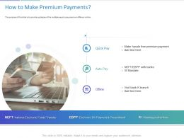 How To Make Premium Payments Ppt Powerpoint Presentation Professional