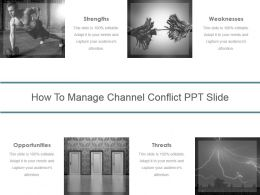 How To Manage Channel Conflict Ppt Slide