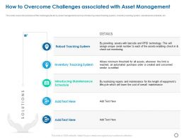 How To Overcome Challenges Associated With Asset Management