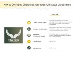 How To Overcome Challenges Associated With Asset Management Will Ppt Powerpoint Presentation Icon