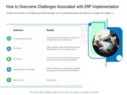 How To Overcome Challenges Associated With ERP Implementation Enterprise Management System EMS Ppt Brochure