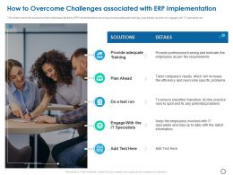 How To Overcome Challenges Associated With ERP Implementation Ppt Powerpoint Presentation